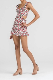 Lush Floral Cutout Romper - Front full body