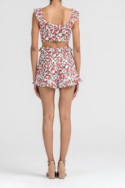 Lush Floral Cutout Romper - Side cropped