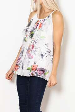 Betsy Moss Floral Demi Ruffle Top - Product List Image