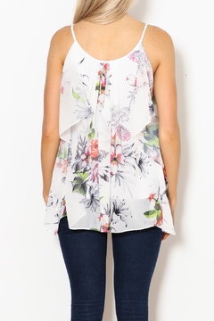 Betsy Moss Floral Demi Ruffle Top - Alternate List Image