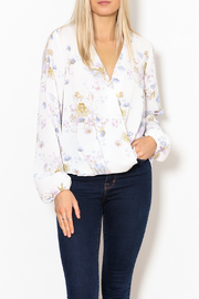 Betsy Moss Floral Demi Ruffle Top - Product Mini Image