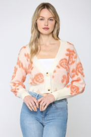 Fate  Floral Distressed Crop Cardigan - Product Mini Image