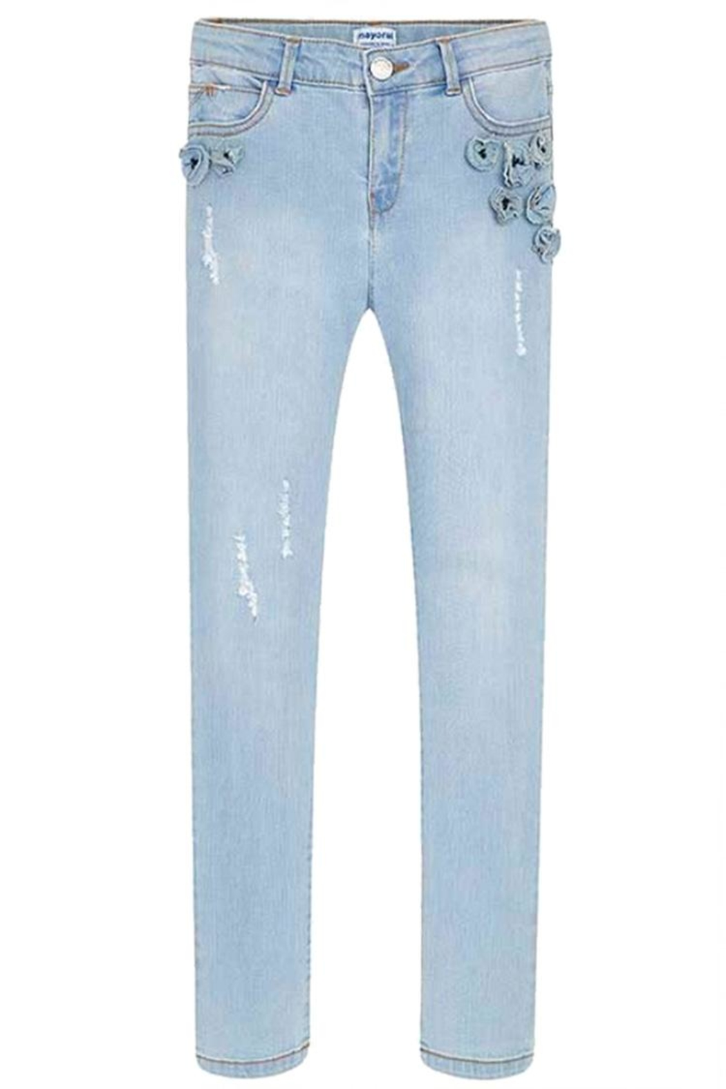 Mayoral Floral Distressed Jean - Main Image