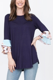 Lyn -Maree's Floral Double Ruffle Tunic - Product Mini Image