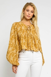Olivaceous  Floral Double Tie Blouse - Product Mini Image