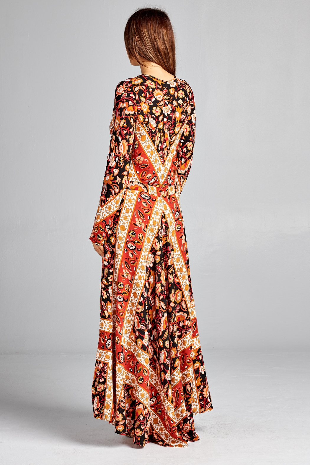Racine Floral Dreamy-Romantic Maxi-Dress - Side Cropped Image