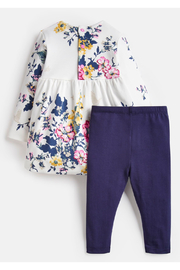 Joules Floral Dress and Leggings Set - Front full body