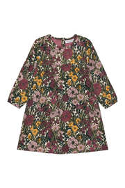 Minymo Floral Dress - Fog - Front cropped