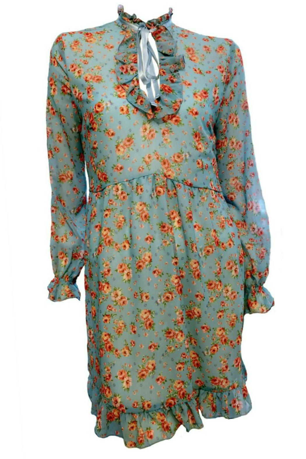 Maryley Floral Dress Tie - Front Cropped Image