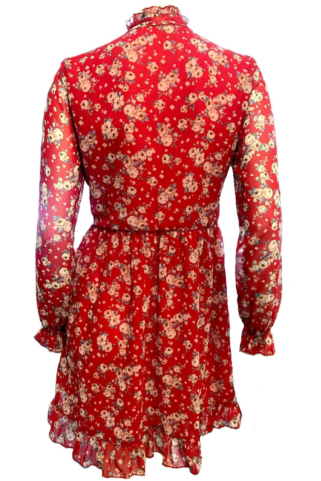 Maryley Floral Dress Tie - Side Cropped Image