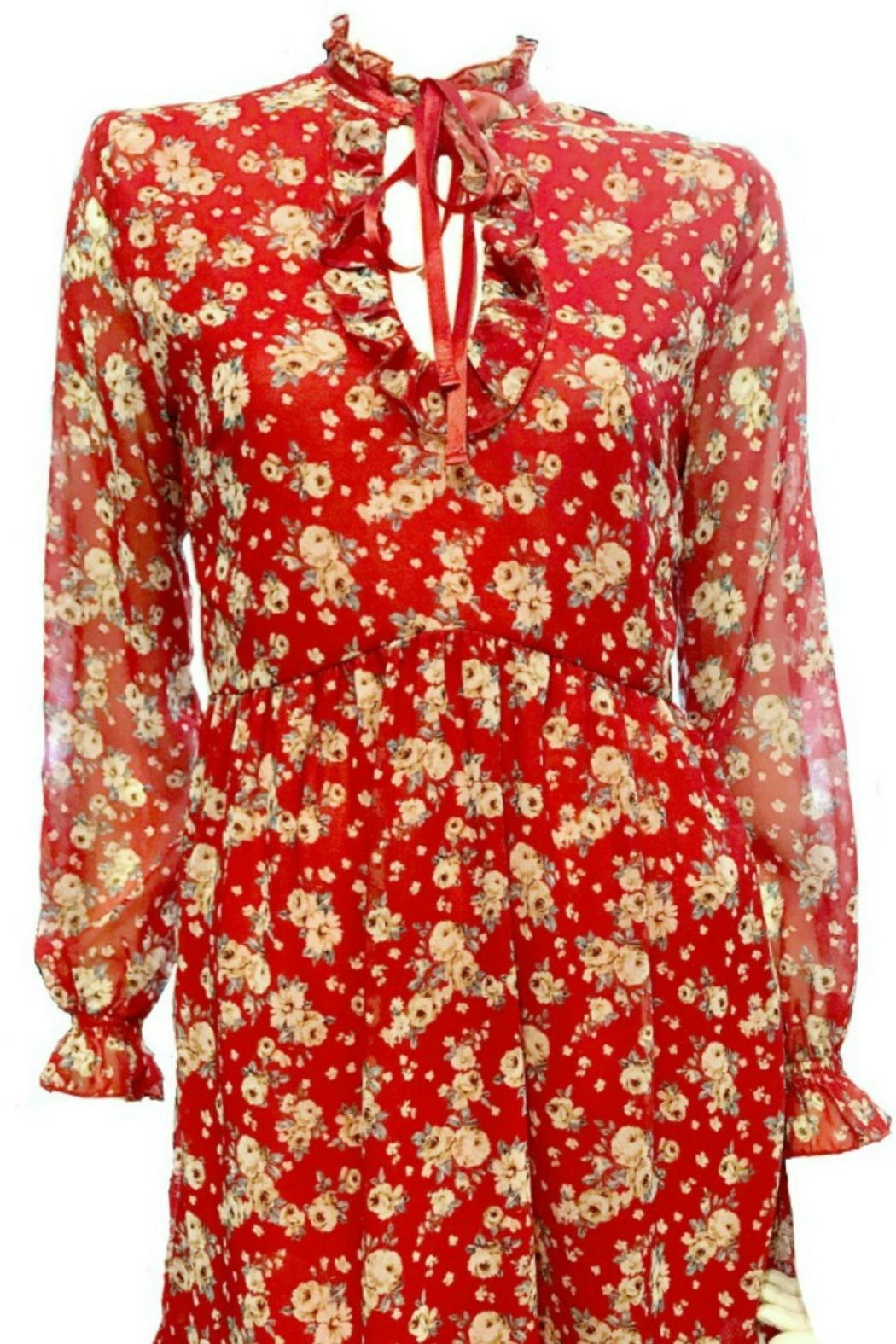 Maryley Floral Dress Tie - Front Full Image