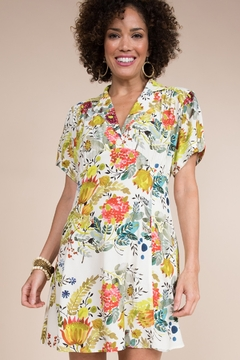 Ivy Jane  Floral Dress with Gathered Bust - Product List Image