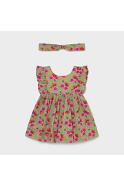 Mayoral Floral Dress With Matching Headband - Product Mini Image