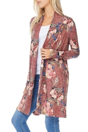 Reborn J Floral Duster/cardigan - Front full body