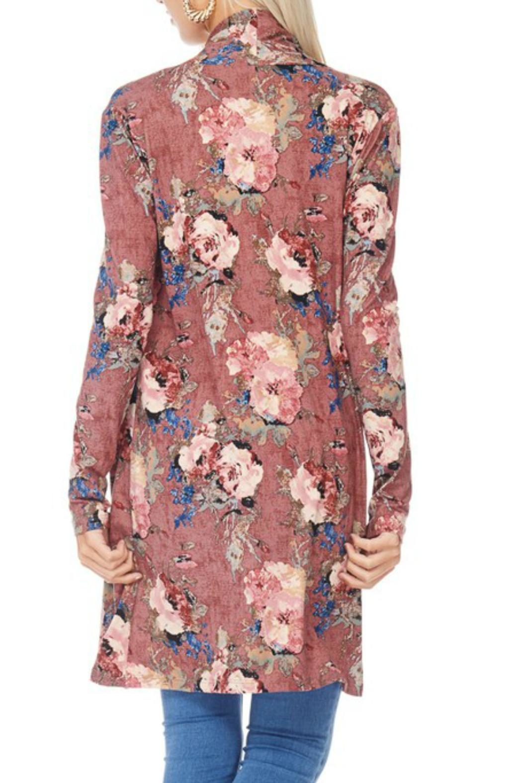 Reborn J Floral Duster/cardigan - Side Cropped Image