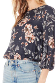 Saltwater Luxe Floral Elastic Waist Top - Product Mini Image