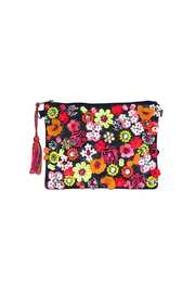 America & Beyond Floral Embellished Clutch - Product Mini Image