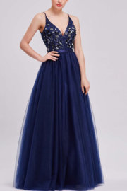 Jadore Floral Embellished Gown - Product Mini Image