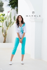 Marble Floral Embellished Top - Product Mini Image