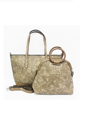 Treska Floral Embossed Tote - Product Mini Image