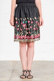 Go Fish Clothing Floral Embriodered Skirt - Product Mini Image