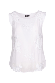 M made in Italy Floral Embroidered Blouse - Product Mini Image