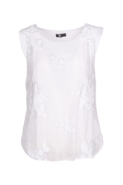 M made in Italy Floral Embroidered Blouse - Front cropped