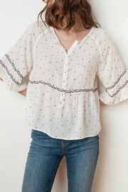 Velvet Floral Embroidered Blouse - Product Mini Image
