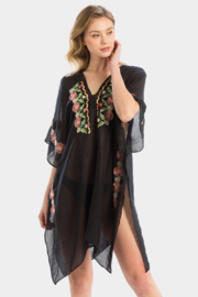 Wona Trading Floral Embroidered Cover Up/Kimono - Product Mini Image