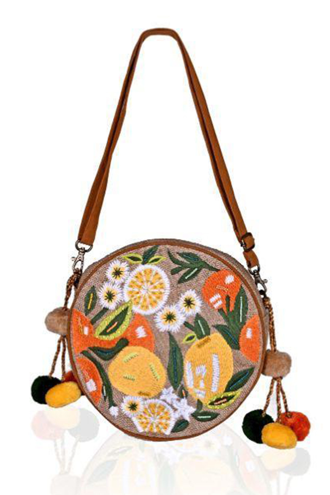 America and Beyond Floral Embroidered Crossbody - Main Image