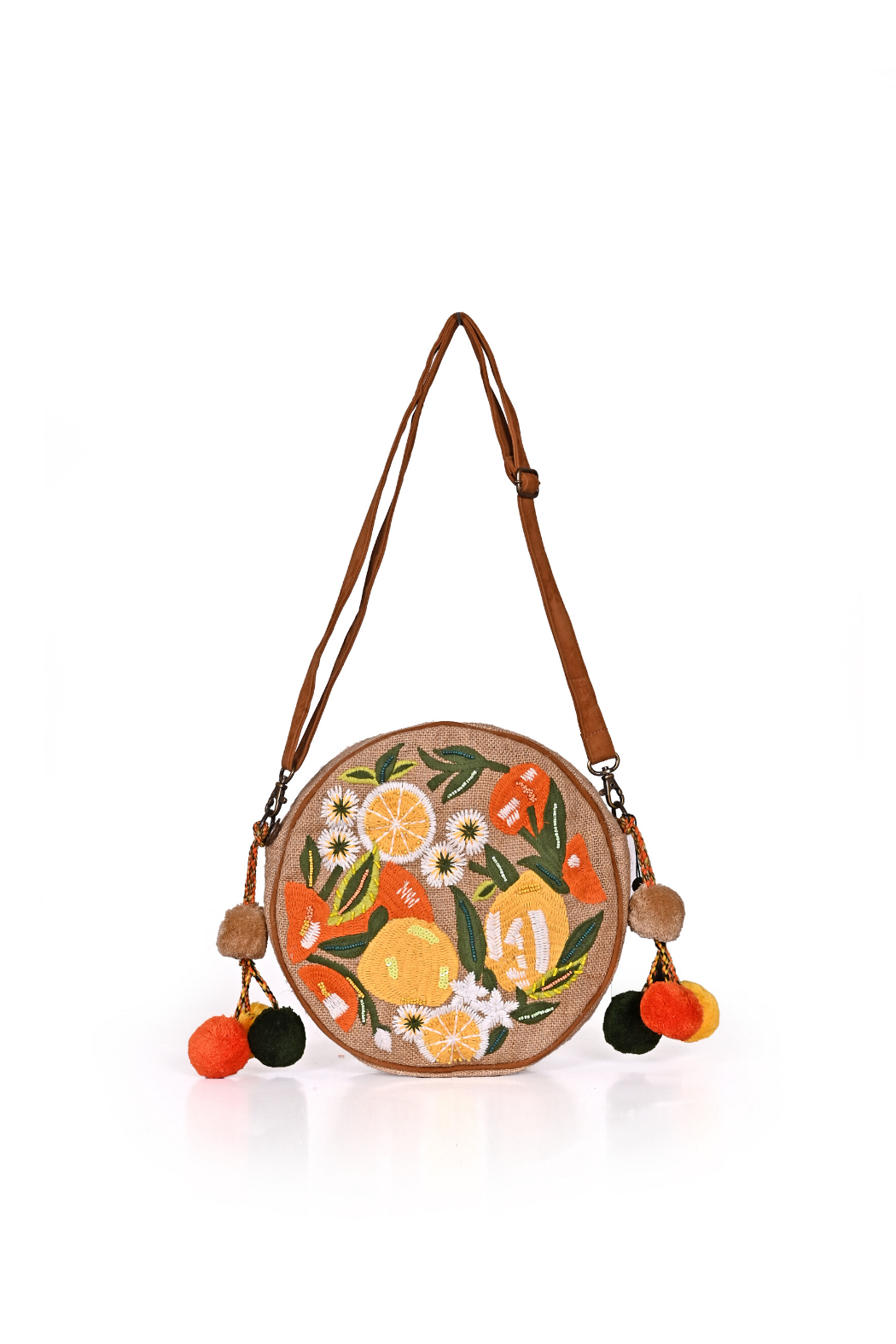 America & Beyond Floral Embroidered Crossbody - Main Image
