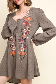 Umgee Floral Embroidered Dress - Product Mini Image