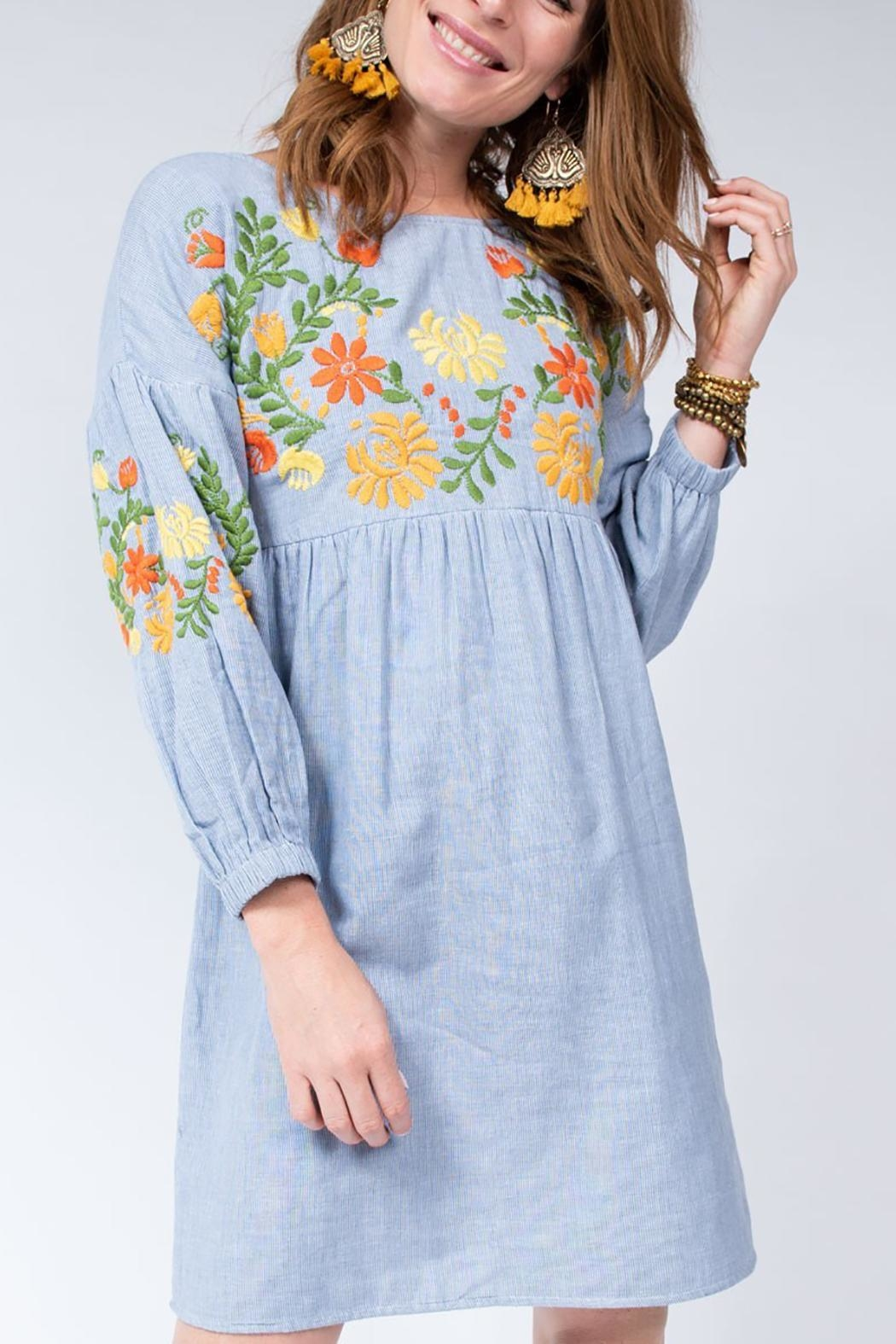Ivy Jane / Uncle Frank  Floral Embroidered Dress - Main Image