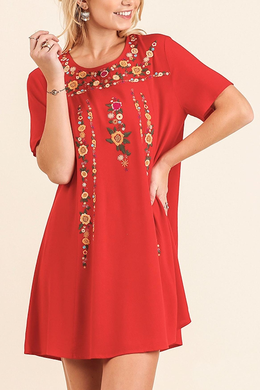 Umgee USA Floral Embroidered Dress - Main Image