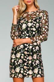Minuet Floral Embroidered Dress - Product Mini Image
