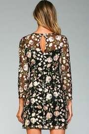 Minuet Floral Embroidered Dress - Back cropped