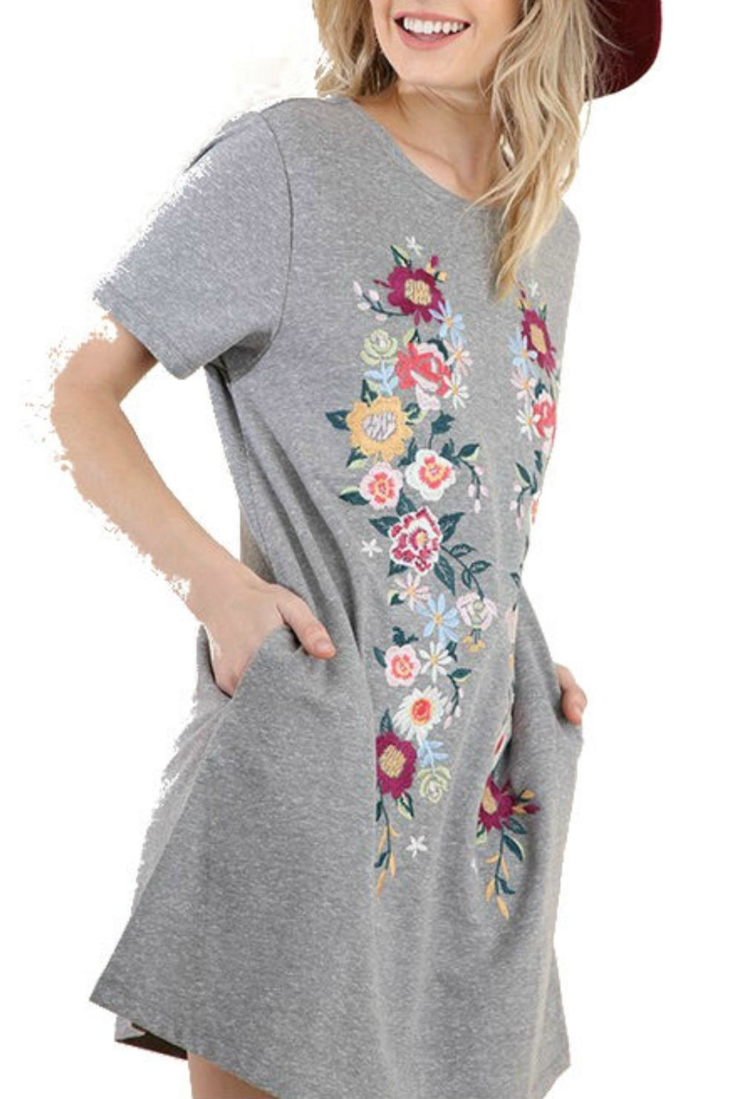 Modern Emporium Floral Embroidered Dress - Side Cropped Image
