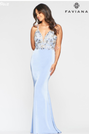 Faviana Floral Embroidered Gown - Product Mini Image