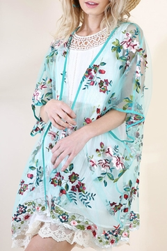 Umgee USA Floral Embroidered Kimono - Product List Image