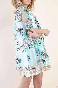 Umgee USA Floral Embroidered Kimono - Alternate List Image