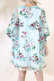 Umgee USA Floral Embroidered Kimono - Front full body