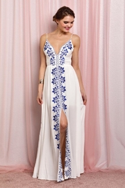 Soieblu Floral Embroidered Maxi - Product Mini Image