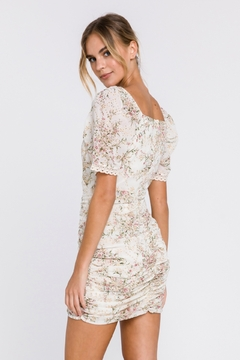 FREE THE ROSES Floral Embroidered Mini Dress - Alternate List Image