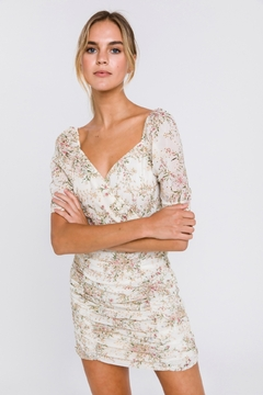 FREE THE ROSES Floral Embroidered Mini Dress - Product List Image