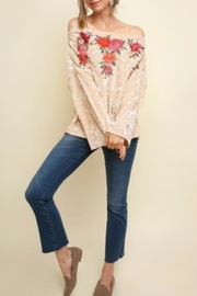 Umgee USA Floral Embroidered Off-Shoulder - Product Mini Image