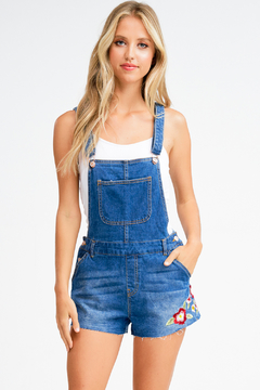 MONTREZ FLORAL EMBROIDERED OVERALLS - Product List Image