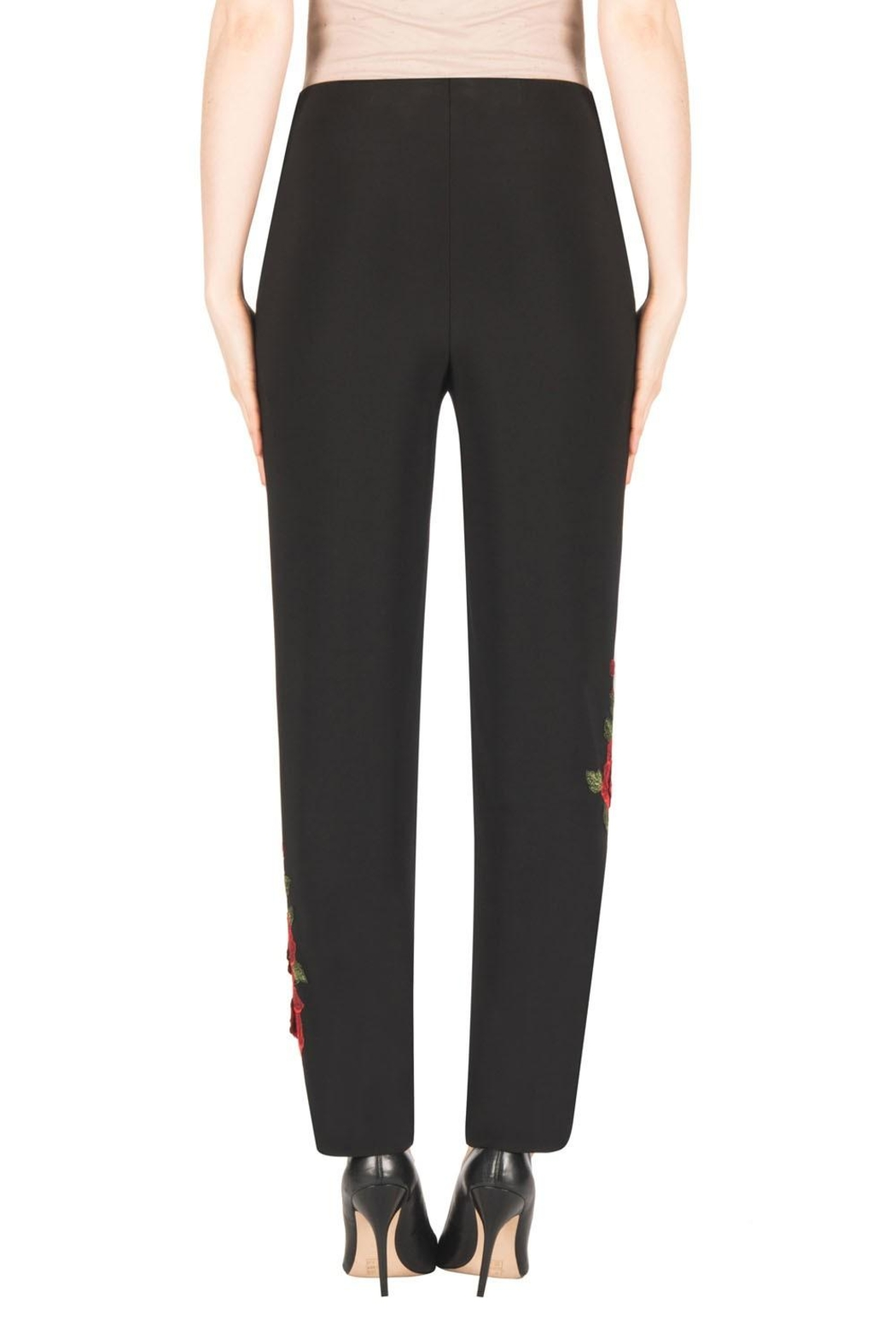 Joseph Ribkoff Floral Embroidered Pant - Side Cropped Image