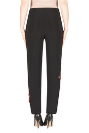 Joseph Ribkoff Floral Embroidered Pant - Side cropped