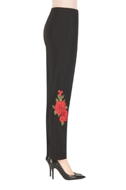 Joseph Ribkoff Floral Embroidered Pant - Front full body