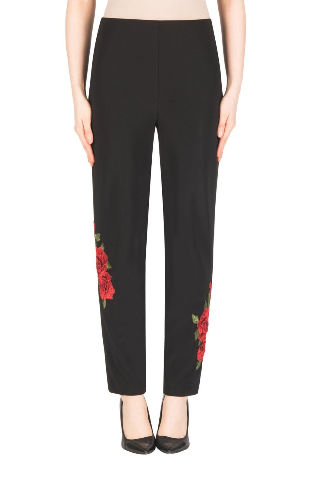 Joseph Ribkoff Floral Embroidered Pant - Main Image